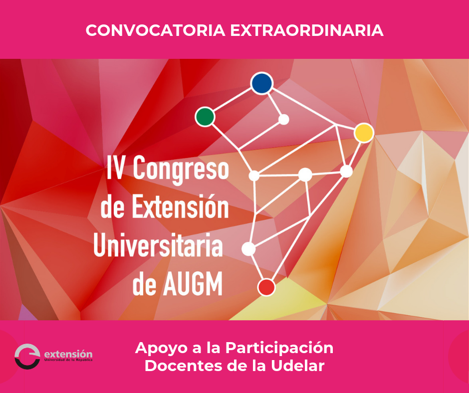 AFICHE DOCENTES CONGRESO EXTENSION AUGM